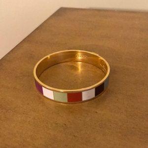 Coach bangle bracelet multi color & gold